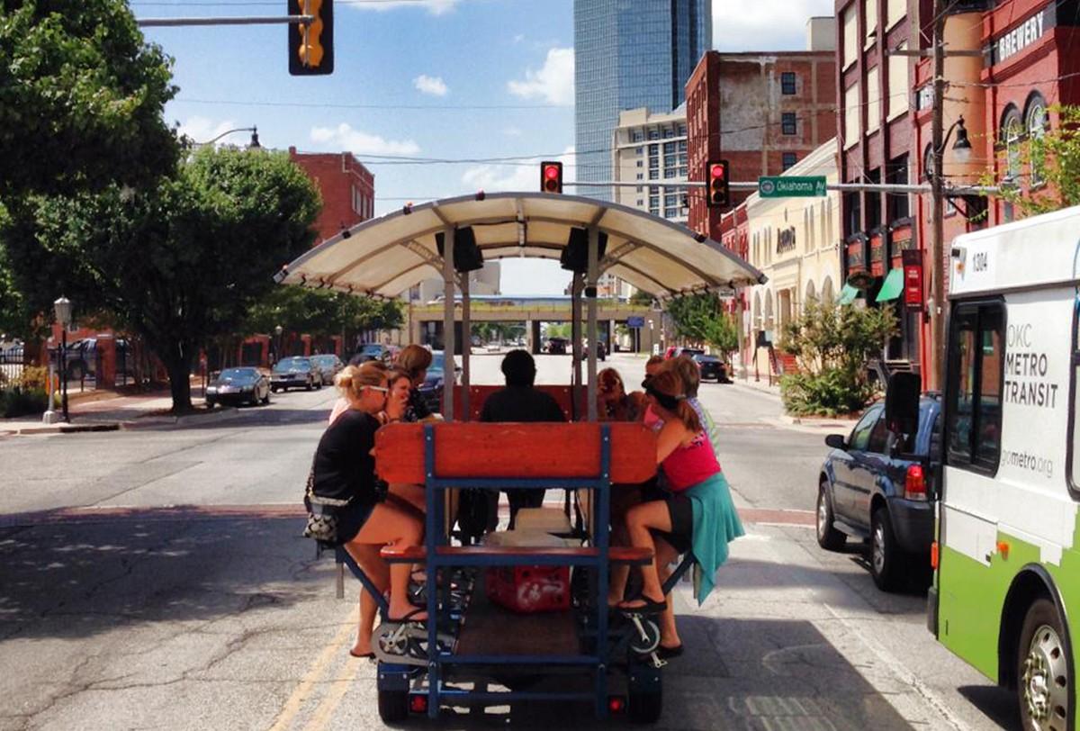 Bricktown Bar on Wheels - Bricktown Bike Bar